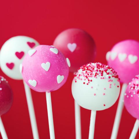 Valentýnské pralinky & cake pops